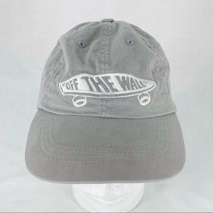 Vans Snapback Hat Cap Skater Surf Retro Gray